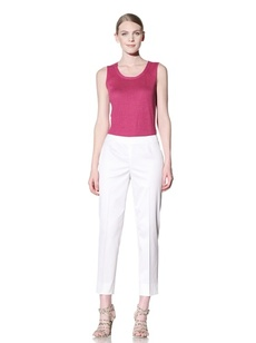 Lafayette 148 New York Women's Cropped Side Zip Pant