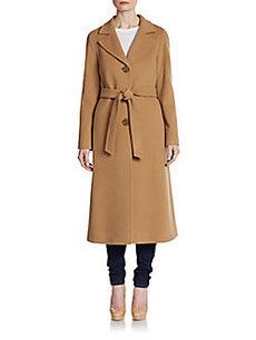 Cinzia Rocca Fleece Wool-Blend Long Coat