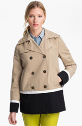 Ellen Tracy Colorblock Peacoat (Petite) (Online Only)