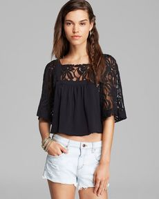 Free People Top - Catalina Lace