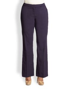 Eileen Fisher, Sizes 14-24 Straight-Leg Trousers