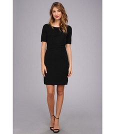 Ellen Tracy Sleeved Pebble Knit Sheath