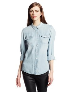 Lucky Brand Women's Tencel Chambray Shirt