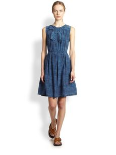 Marc Jacobs Silk Bow-Yoke Dress