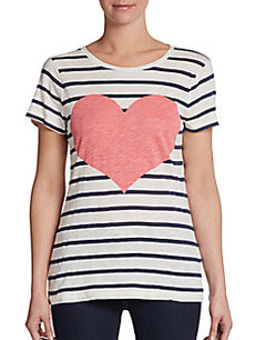 French Connection Heart Struck Striped Tee