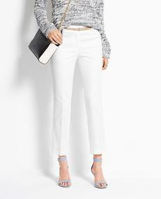 Petite Signature Cotton Sateen Cropped Pants