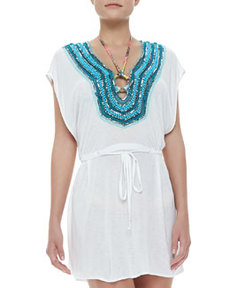 Guadas Bead-Neck Coverup Tunic   Guadas Bead-Neck Coverup Tunic