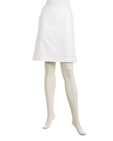 Lafayette 148 New York Blaire Stretch Metro Skirt, White