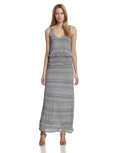 Joie Women's Wilcox Jersey Variegated-Pinstripe Maxi Dress