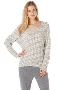 long sleeve stripe raglan top