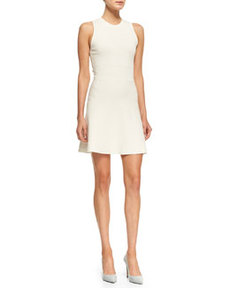 Prosecco Flared Sleeveless Crepe Dress   Prosecco Flared Sleeveless Crepe Dress
