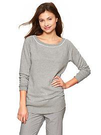 Heathered sweatshirt tunic