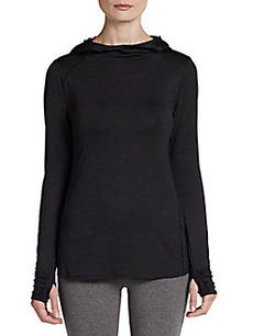 MARC NEW YORK by ANDREW MARC Performance Slubbed Thumb-Hole Hoodie