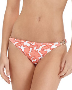 Shoshanna Reef-Print Ring-Side Swim Bottom