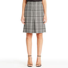 A-Line Pleat-Front Skirt