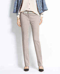Petite Modern Cotton Sateen Straight Leg Pants