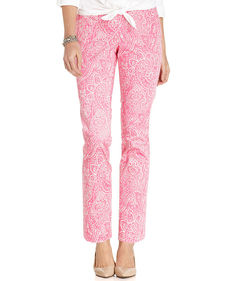 Charter Club Paisley-Print Straight-Leg Pants