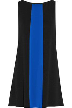Alice + Olivia Maris paneled wool-jersey mini dress