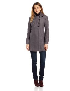Kenneth Cole New York Women's Double-Breasted Wool Boucle Coat