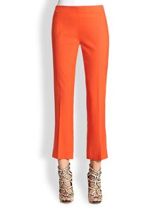 Derek Lam Stretch Cotton Ankle Pants