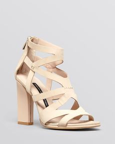 FRENCH CONNECTION Open Toe Sandals - Isla High Heel