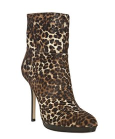 Jimmy Choo tan leopard calf hair 'Alanis' booties
