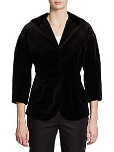 Lafayette 148 New York Shaped Velvet Jacket