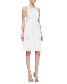 Geri Sleeveless Fit & Flare Lace Dress   Geri Sleeveless Fit & Flare Lace Dress