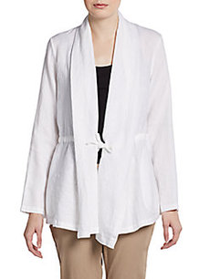 Lafayette 148 New York Ines Open Drawstring Cardigan