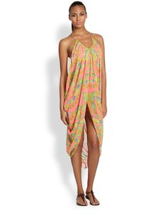 Mara Hoffman Chiffon Draped Dress
