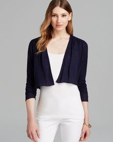 Eileen Fisher Round Neck Cropped Cardigan