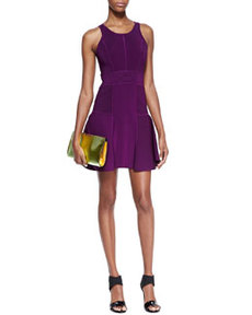 Knit Fit-&-Flare Dress, Plum   Knit Fit-&-Flare Dress, Plum