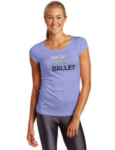 Danskin Women's New York City Ballet Cap Sleeve Tee