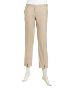 Laundry by Shelli Segal Stretch-Knit Flat Skinny Pants, Oxford