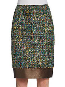 Lafayette 148 New York Aviana Tweed Straight Skirt