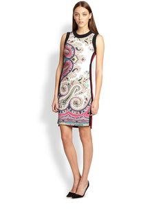 Etro Sleeveless Paisley-Print Shift Dress