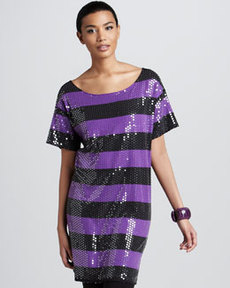 Joan Vass Sequined Tunic