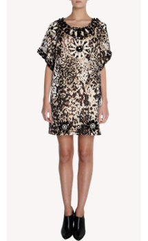 Lanvin Jewel Beaded Leopard Dress