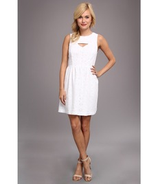 kensie Embroidered Daisies Dress