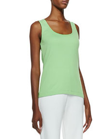 Joan Vass Scoop-Neck Cotton Tank, Women's