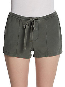 James Perse Pintucked Knit Shorts