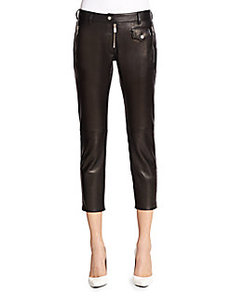 Michael Kors Leather Capri Pants