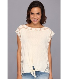Lucky Brand Madison Crochet Back Top