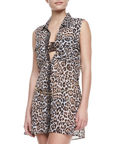 Juicy Couture Luxe® Leopard-Print Coverup Dress