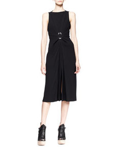 Sleeveless Hook-Waist Dress   Sleeveless Hook-Waist Dress