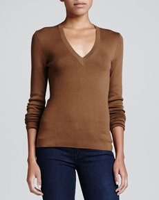 Michael Kors V-Neck Cashmere Sweater
