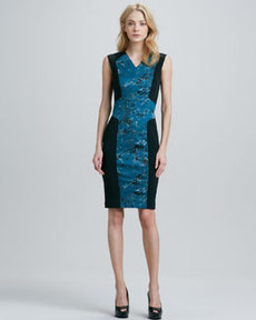 Robert Rodriguez Pixel-Print Techno Dress