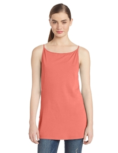 Three Dots Red Women's Cowl Back Tank