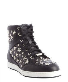 Jimmy Choo back star studded leather high top 'Tokyo' sneakers