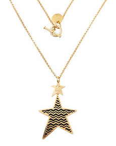 M Missoni Zigzag Star Pendant Necklace, Golden/Black